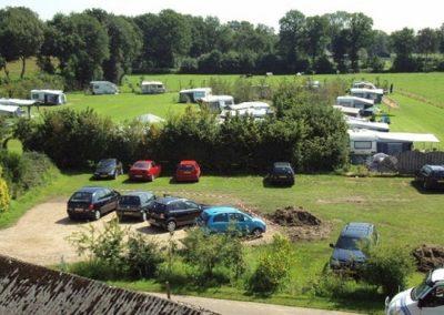 Overzicht kampeerplaatsen van onze camping